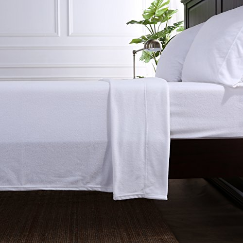 Berkshire Blanket Original Microfleece Set Fleece Sheets, Full, True White