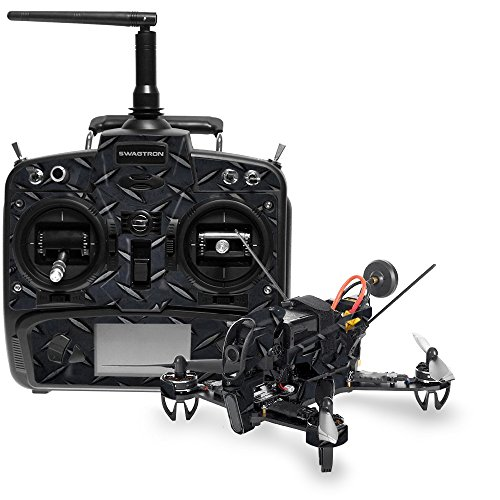 MightySkins Skin for Swagtron SwagDrone 210-UP - Black Diamond Plate | Protective, Durable, and Unique Vinyl Decal wrap Cover | Easy to Apply, Remove, and Change Styles | Made in The USA
