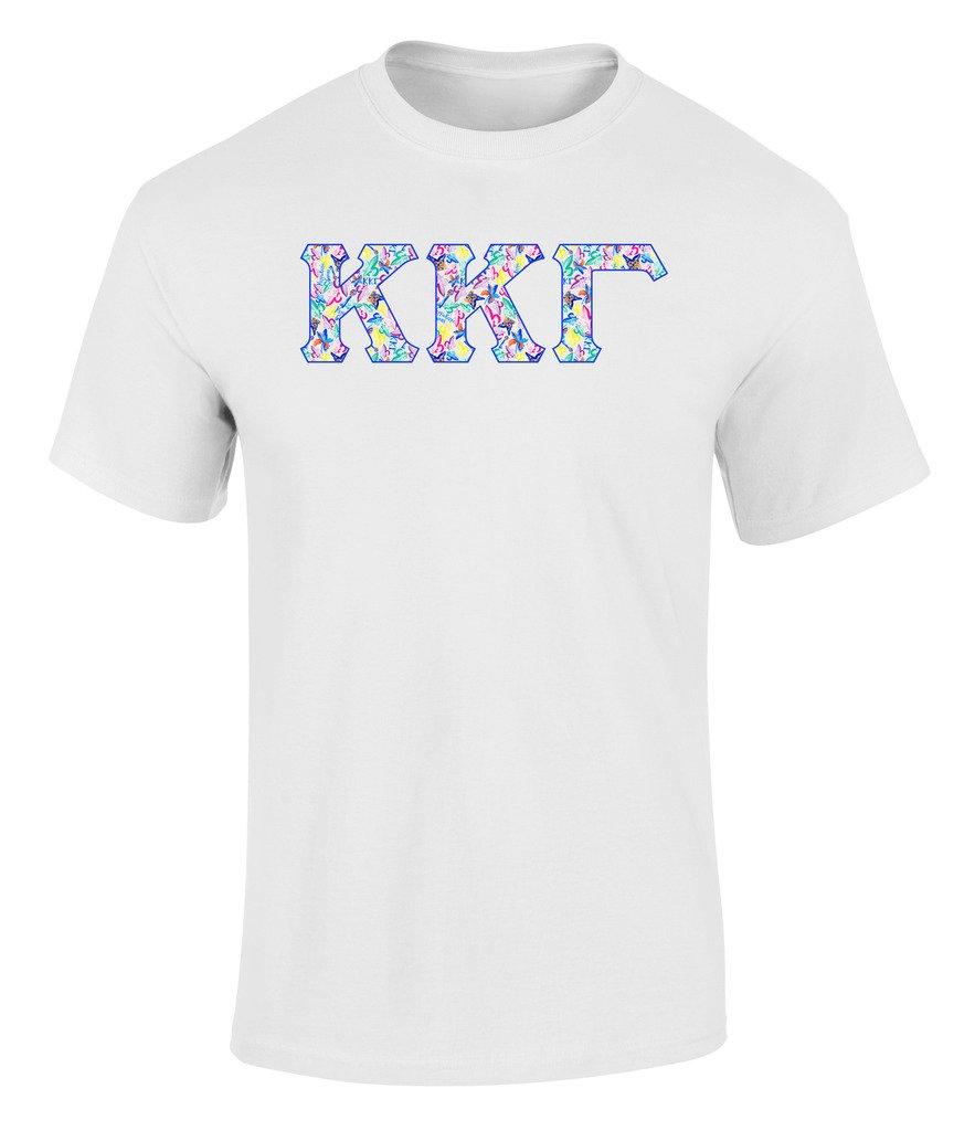 Kappa Kappa Gamma Greek Chic Print T Shirt 1413