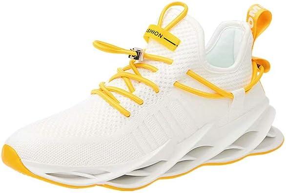 Sneakers Hombre Malla Tejida con Mosca Zapatos De Running Transpirables Casual Zapatos Gimnasio Zapatillas De Deporte: Amazon.es: Zapatos y complementos