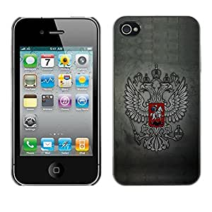 LECELL -- Funda protectora / Cubierta / Piel For Apple iPhone 4 / 4S -- Royal Gryphon Crest --