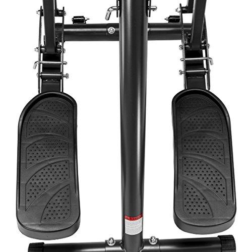 XtremepowerUS Dual Action Air Walker Fitness W/Heart Pulse Sensor