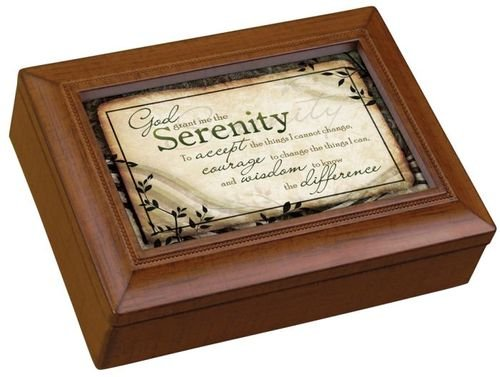 Carson Home Accents 17992 Serenity Prayer Rectangle Music Box, 8-Inch by 6-Inch by - Box Serenity Music