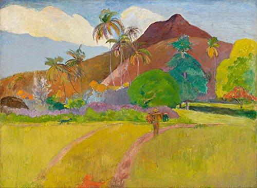 Berkin Arts Paul Gauguin Giclee Canvas Print Paintings Poster Reproduction LARGE SIZE(Tahitian Landscape) - Paul Gauguin Tahitian Landscape