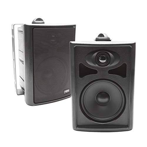 Skar Audio AWX65PB 6.5″ 2-Way All-Weather Indoor/Outdoor Speakers – Black (Pair)