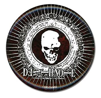 Amazon Death Note Skull Icon Large Button Toys Games