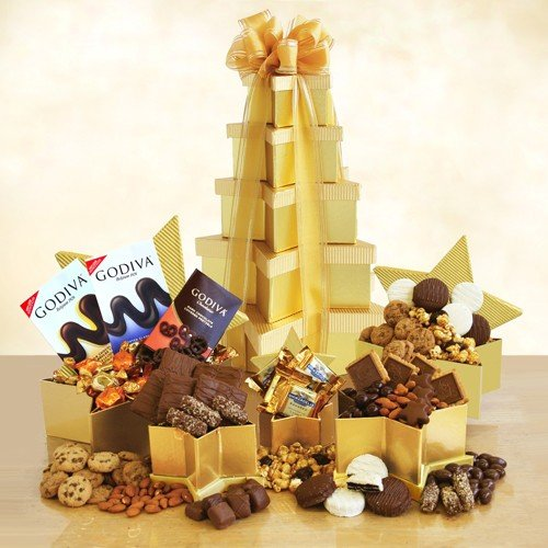 Gourmet Goodies Gift Tower | Filled with Cookies, Chocolates and More