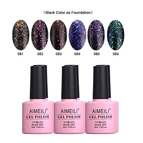 AIMEILI Galaxy Paranoid Collection Soak Off UV LED Clear Gli