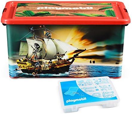 PLAYMOBIL 064661 - Caja organizadora y Caja de almacenaje de Piratas: Amazon.es: Juguetes y juegos
