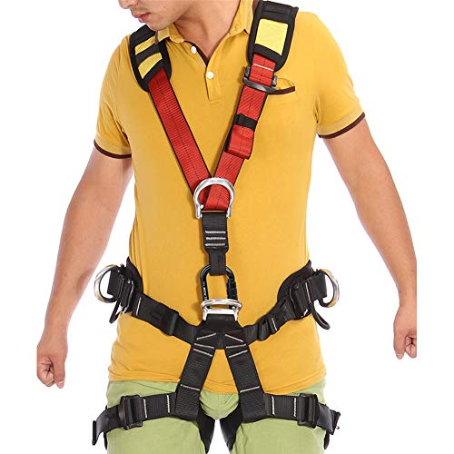 Climbing Safety Belt fire Rescue high Altitude School Operation Rock Climbing Rock Climbing Rappelling Equipment Body Protector Protection by HENRYY (Image #6)