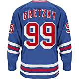 Wayne Gretzky New York Rangers CCM Premier Throwback Jersey - Blue