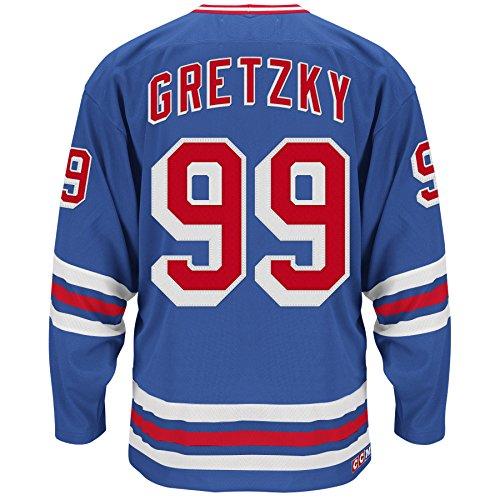 Wayne Gretzky Hockey Jersey (Wayne Gretzky New York Rangers CCM Premier Throwback Jersey - Blue)