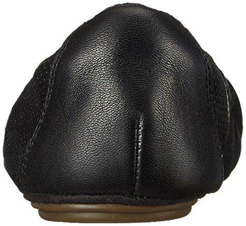 Women's Leather Perfed Grayson Flat Ballet Erica Clarks Black AZdqAg