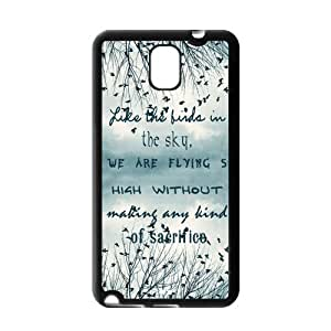 Be Free Birds Quote Protective Gel Rubber Back Fits Cover Case for SamSung Galaxy Note 3