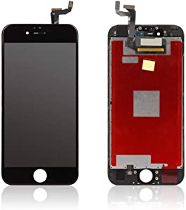New Black LCD Screen Replacement for iPhone 6s 4.7 Inch with Tool Kit and Direction Video and Instructions Model: A1633, A1688, A1700