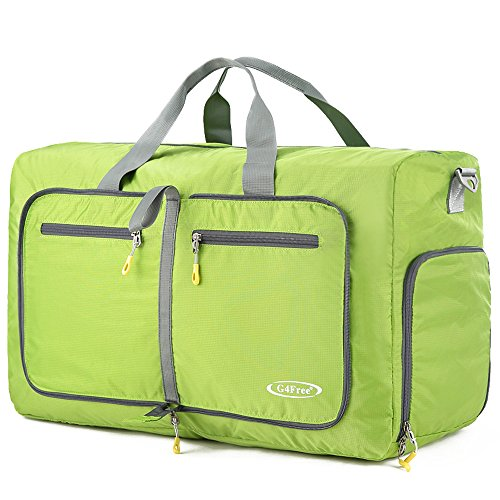 G4Free 60L Large Travel Duffel Bag Lightweight Foldable Sports Duffels Travel Duffels Luggage Handbag for Men Women(Green) For Sale