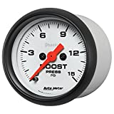 Auto Meter (5750) Phantom 2-1/16'' 0-15 PSI Mechanical Boost Gauge