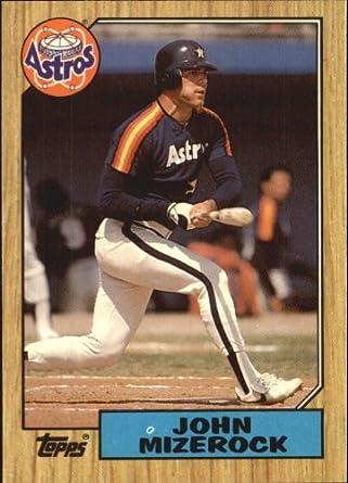 Amazoncom 1987 Topps Tiffany Baseball Card 408 John Mizerock Mint