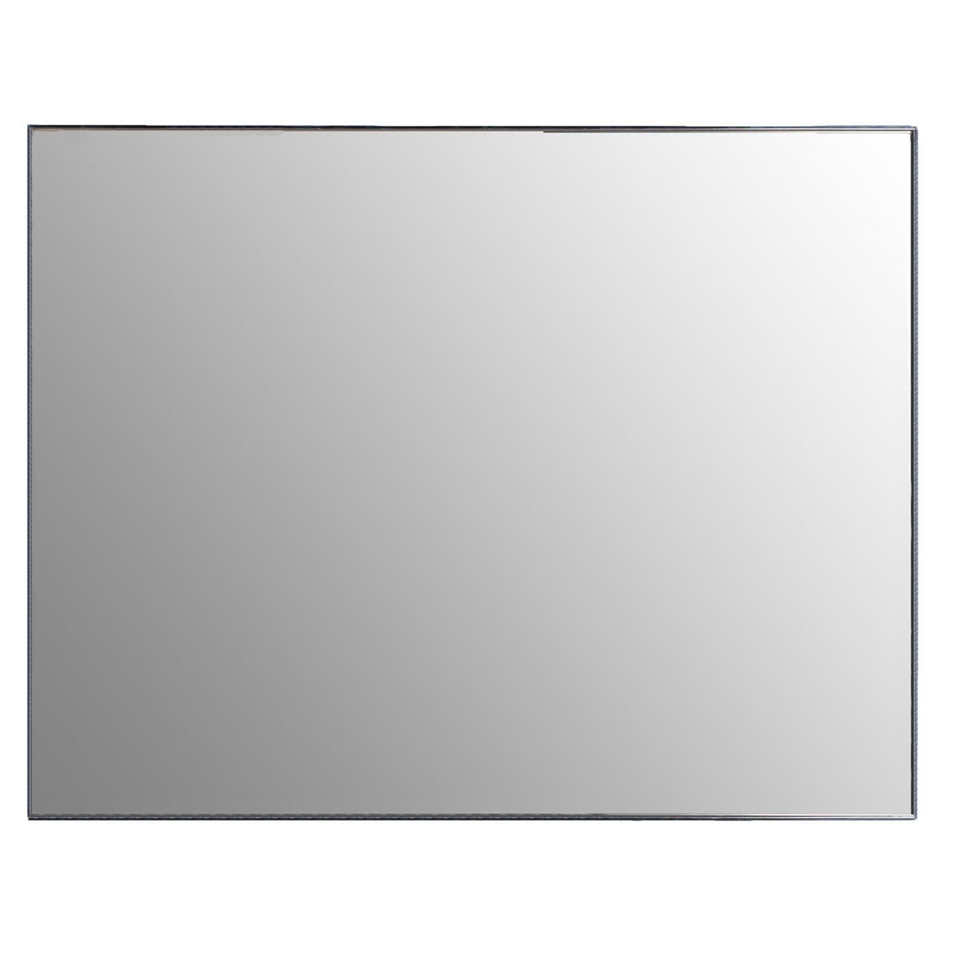 Argento 71/x 4/x 91/cm Belssia Scatola Specchio Acciaio Inox