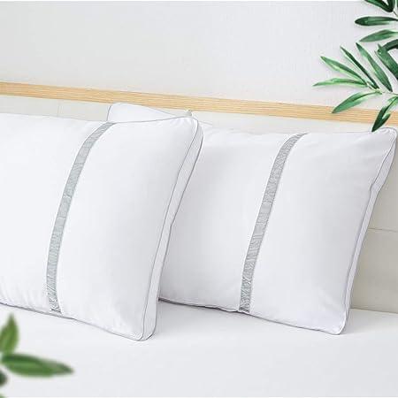Dormire Con Due Cuscini.Bedstory Set Di 2 Cuscini Per Dormire Serie Hotel Cuscini Da