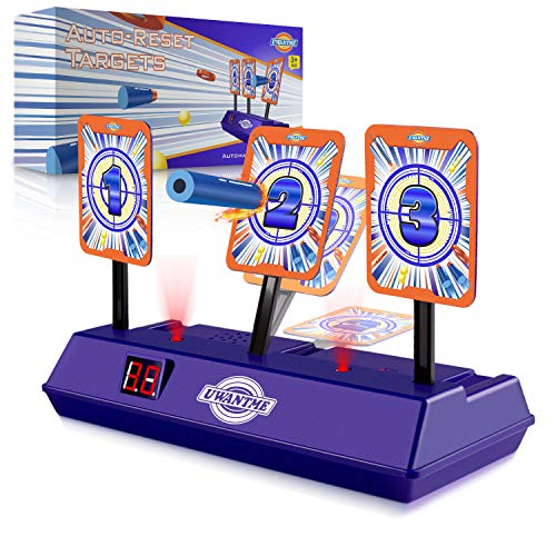 UWANTME Electric Scoring Auto Reset Shooting Digital Target for Nerf Guns Blaster (Nerf Guns For Toddlers)
