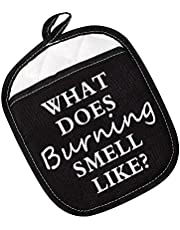 You Just Fold in The Cheese/What Does Burning Smell Like Pot Holders Gift for Fans
