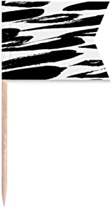 Brushwork Chinese Painting Texture Toothpick Flags Labeling Marking for Party Cake Food Cheeseplate