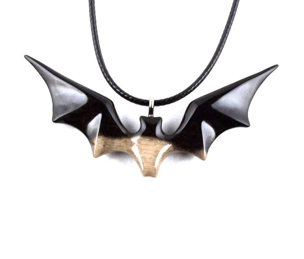 Amazoncom Wooden Bat Pendant Necklace Totem Animal Jewelry Hand