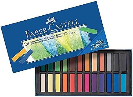 Faber-Castell Creative Studio - Caja de lápices pastel 24 unidades: Amazon.es: Oficina y papelería