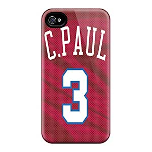 No1cases Iphone 4/4s Shock Absorption Cell-phone Hard Covers Allow Personal Design Colorful Los Angeles Clippers Series [grT18546ZdWp]