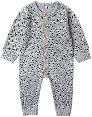 51c673953 Ziyunlong Baby Knit Romper Newborn Long Sleeve Breathable Sweater One Piece  Jumpsuit Infant Baby Clothes