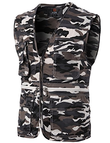 - H2H Mens Casual Work Utility Hunting Travels Sports Lightweight Vest with Multiple Pockets Camouflage US XL/Asia 2XL (KMOV0113)
