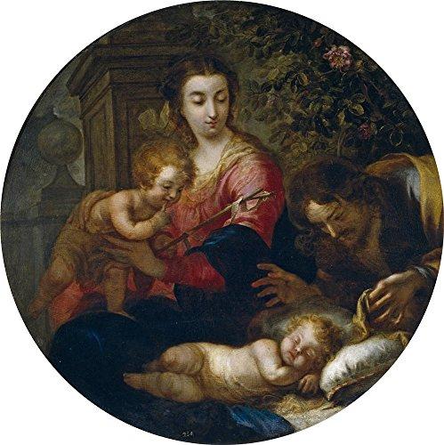 Oil Painting 'Melendez Miguel Jacinto Sagrada Familia Ca. 1732', 20 x 20 inch / 51 x 51 cm