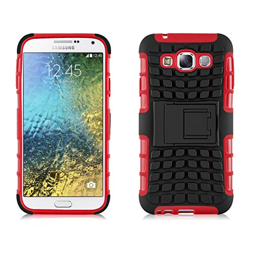 Armor Hybrid Hard PC + TPU Case for Samsung Galaxy E7 E700 (Red) - 1