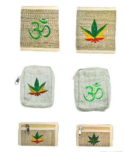 Mens-Unique-Zipper-Bohemian-Hippie-Weed-Hemp-Wallet