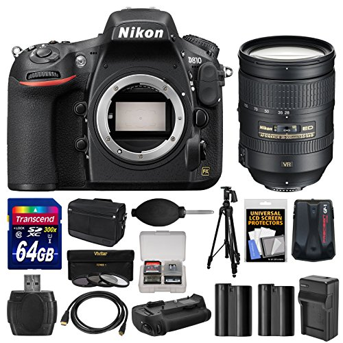nikon-d810-digital-slr-camera-body-with-28-300mm-vr-lens-64gb-card-case-batteries-charger-grip-tripo