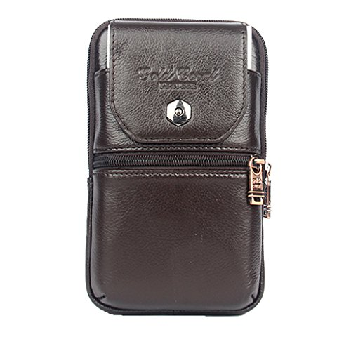 MagiDeal Phone Case Holster Leather Men Travel Bag Cell phon