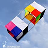 3d Box Kite Traditional Flying Stable In Variety Conditions Of Wind Easy To Assemble And Fly Useful Bag Is Convenient Your Outdoor Activities.