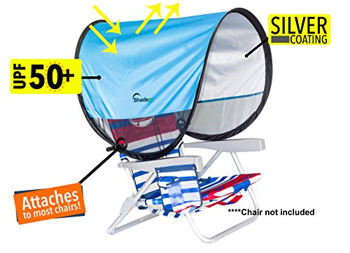 Shadeez Oasis Portable, attachable, pop up sunshade, canopy, sun shelter. (Light Blue)