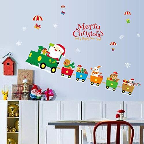 JiaMeng Mural de Navidad Extraíble Etiqueta de la Pared Calcomanía de Navidad Decoración Pegatinas: Amazon.es: Juguetes y juegos