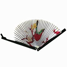 SODIAL(R) 2PCS Paper Folding Chinese Oriental Floral Hand Fans Wedding Favours Table outstanding quality