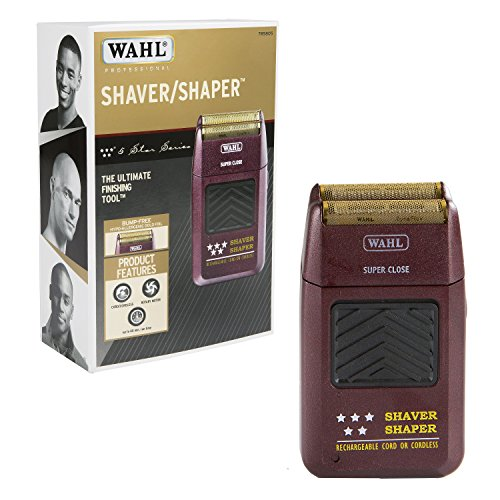 (Wahl Professional 5-Star Series Rechargeable Shaver/Shaper #8061-100 - Up to 60 Minutes of Run Time - Bump-Free, Ultra-Close Shave)