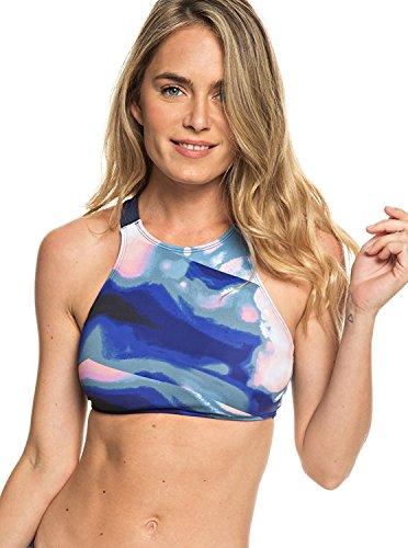 Roxy Women's Fitness Sporty Swimsuit Top, Dress Blue Dusk Swirl, M - Fitness Swimwear