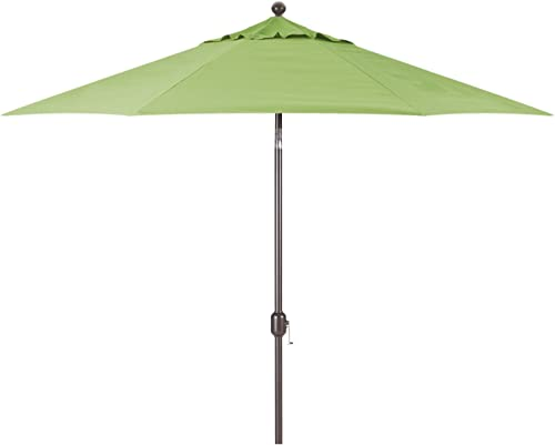 Galtech 9-Foot Model 737 Deluxe Auto-Tilt Umbrella with Antique Bronze Frame and Sunbrella Fabric Parrot Includes Extended Frame Warrantee