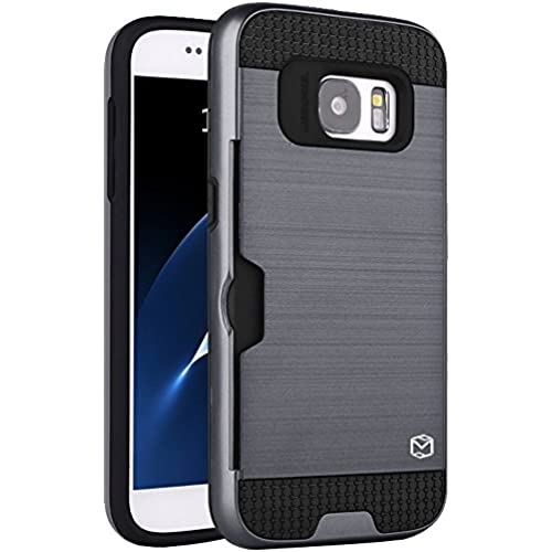 Galaxy S8 Case, MP-Mall [Shock Absorbent] [Card Slot] Armor Hybrid Defender Shockproof Rugged Protective Cover Case For Samsung Sales