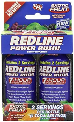 VPX REDLINE Power Rush 7hr Energy Shot Beverage, Exotic Fruit, 2.5-Ounce Bottles (Pack of 24) from Vpx Sports / Redline