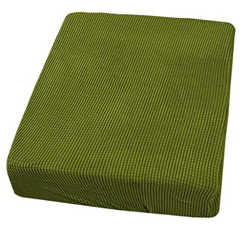 Flameer High Stretch Sofa Seat Cushion Covers Chair Slipcover Garden Patio Couch Cushion Pad Replace Cover Furniture Protector - Green- 2 Seater from Flameer