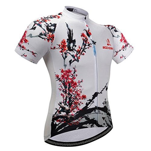 (Uriah Women's Cycling Jersey Short Sleeve Plum Blossom Size S(CN) )