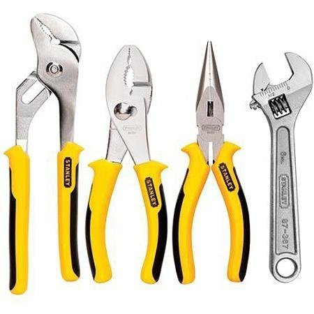Auto Stanley Multiuse Tool 4-Piece Plier and Adjustable Wrench Set