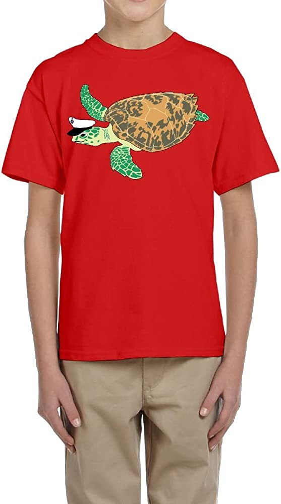 Short-Sleeve Shirt Youth Crewneck Funny Sea Turtles for Boys